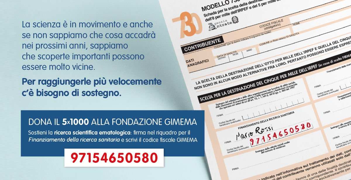 Dona il 5×1000 alla Fondazione GIMEMA