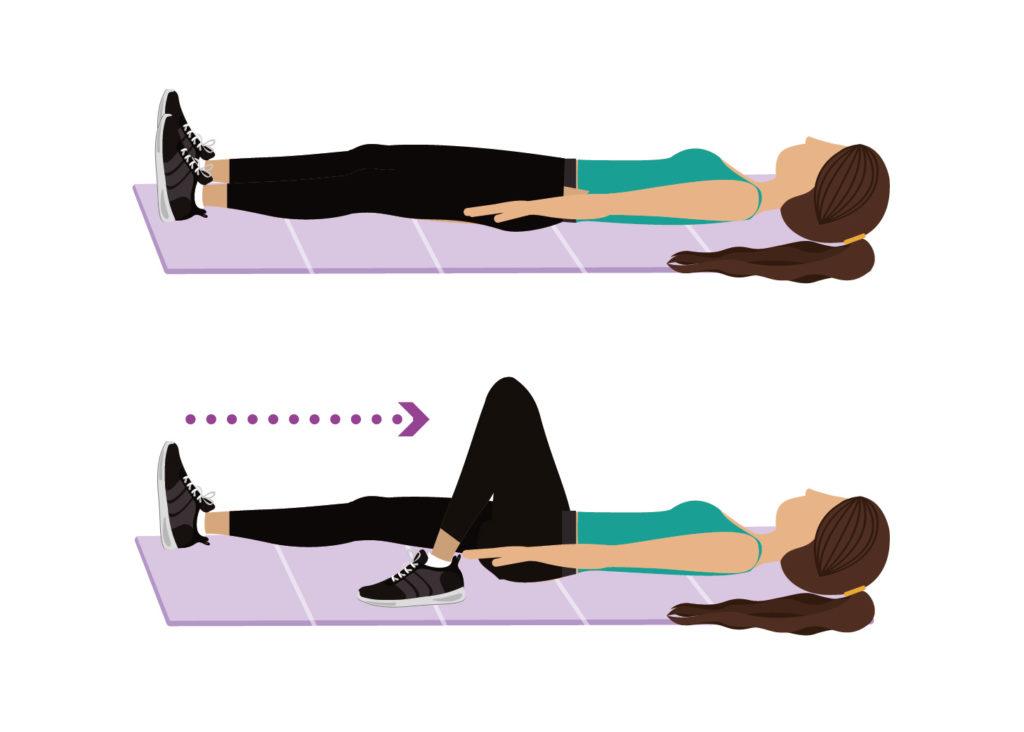 Flessione anca e ginocchio da sdraiato